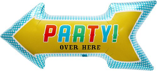 Party Arrow Helium Foil Balloon - 36 inch