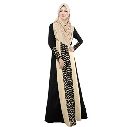 Froomer Women's Muslim Abaya Maxi Dress
