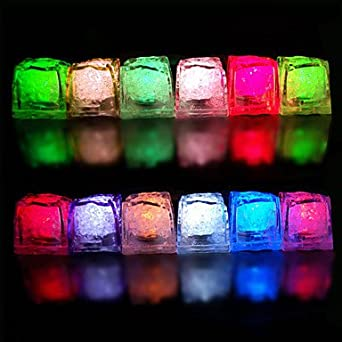 BuW Color Changing Ice Cubes Style LED Light (10-Pack), lighting