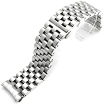 24mm Super Engineer Solid Stainless Steel Curve End Watch Band for Panerai, BR