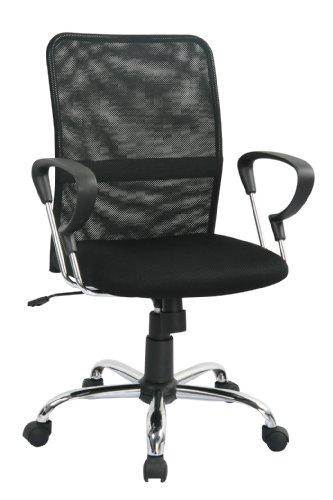 SixBros. Design - Sill�n de oficina Silla de oficina Silla giratoria negra - H-8078F-2/1322