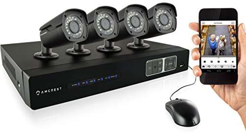 Fantastic Deal! Amcrest 720P HD Over Analog (HDCVI) 4CH Video Security System - Four 1.0 MP Weatherp...