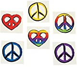 Pack of 12 - Peace Temporary Tattoos - Great Party Loot Bag Fillers