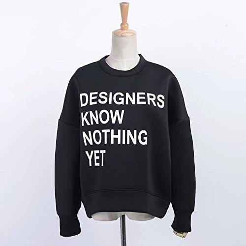 XJoel Hooded Fleece Court maglioni oversize e camicie di dimensioni più designer (un formato)