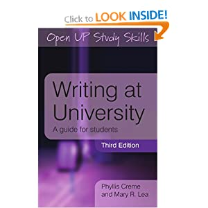 Writing at University Mary R. Lea, Phyllis Creme
