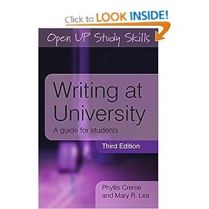 Writing at University Mary R. Lea, Phyllis Creme