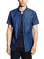 JACK & JONES Camisa Hombre (Azul Oscuro)