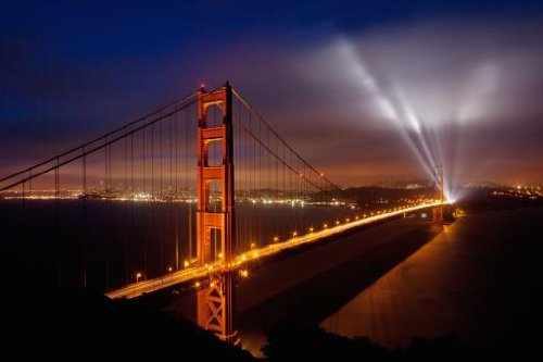 Golden Gate Bridge Wall Decal - 18 Inches W X 12 Inches H - Peel And Stick Removable Graphic front-769488