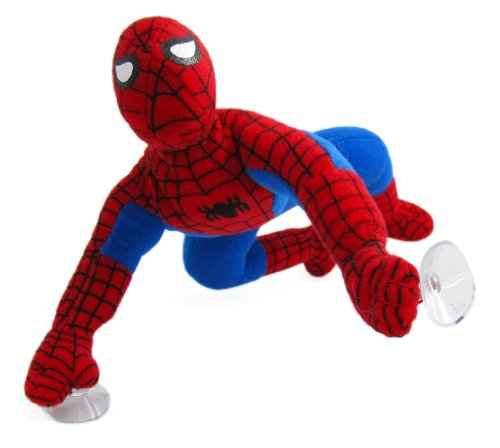 Buy Low Price Kellytoys Marvel Spiderman Plush Doll – 9in Spider-man Super Hero Stuffed Figure w/ Suction Cups (B0057Q8L4Y)