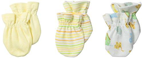 Spasilk Unisex-Baby Newborn 3 Pack 100% Cotton Scratch Mittens
