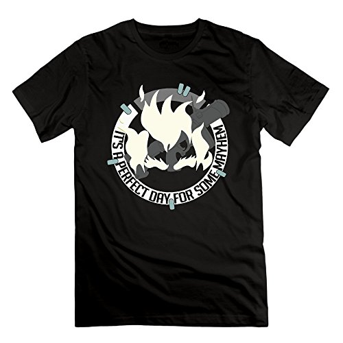 Men's It Is A Perfect Day For Some Mayhem Short-Sleeve T-shirt Black (Model Mayhem compare prices)