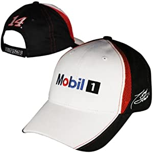 Tony Stewart #14 Mobil 1Nascar Checkered Flag Fan Up Adjustable Hat Cap by Checkered Flag