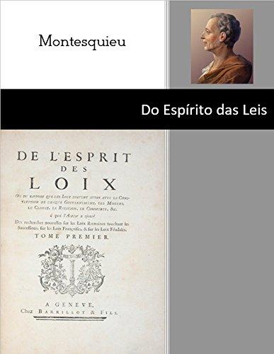 do-espirito-das-leis-montesquieu-portuguese-edition