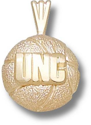 North Carolina Tar Heels UNC Basketball Pendant - 14KT Gold Jewelry by Logo Art