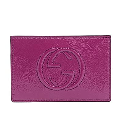 Amazon Gucci Card Holder Soho Magenta Pink Patent