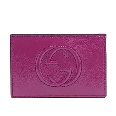 Amazon Gucci Card Holder Soho Magenta Pink Patent
