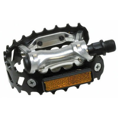 Sunlite Bicycle 747 Bear Trap Pedals, 9/16 in, Black, 1 pair