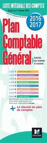 Plan comptable général 2016-2017 (FOU.PS.PLANCPTA)