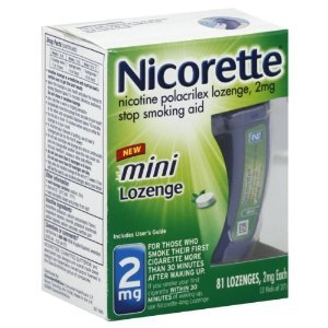 Nicorette Mini Lozenges, 2mg, Mint Flavor, 81Lozenges per Box (Pack of 2) Reduced for Quick Sale Exp Date is November 2011