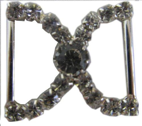 Silver Plated Rhinestone Scarf Holder/ Belt Buckle