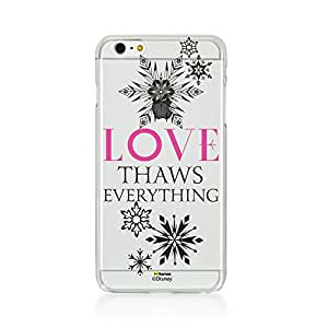 Hamee Disney Princess Frozen Official Licensed Designer Cover Hard Back Case for iPhone 6 Plus / 6s Plus (Clear / Love Thaws Everything)