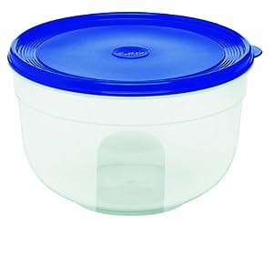 EMSA SUPERLINE 2102224400 Frischhalteschale, rund/hoch, 2,25 L transparent/blau
