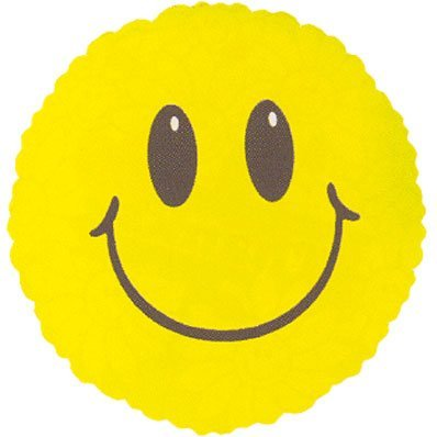 "Cute Eyes Yellow Smiley Face Shaped 18"" Mylar Foil Balloon Party Birthday"