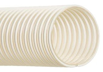 "Hi-Tech Duravent Thermoplastic Polyurethane Static Dissipative Duct Hose, Clear w/ opaque helix, 3/4"" ID, 1.1000"" OD, 25' Length"
