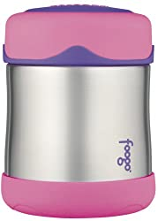 Thermos Foogo Leak-Proof Stainless Steel 10-Ounce Food Jar, Pink