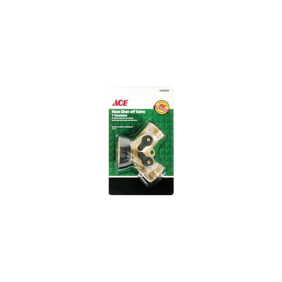 Garden Hose Connectors, Y Brass Hose Connector With Dual Shut Off