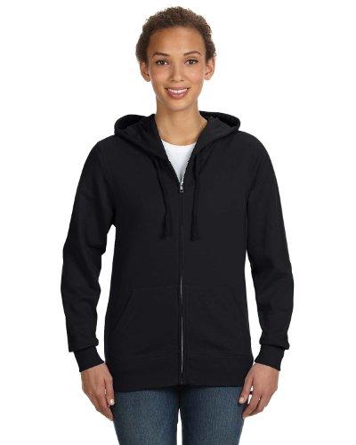 Lat 3763 Ladies Full-Zip Hoodie - Black - 'L front-51558
