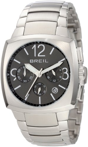 Breil Men's Rod Quartz Watch TW0766 with Grey Chronograph Dial, Stainless Steel Case And Bracelet