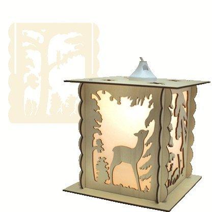 holz bastelset 3 d laubs ge laterne reh im wald zum. Black Bedroom Furniture Sets. Home Design Ideas