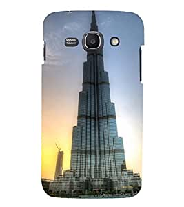 Printvisa Famous Architecture 3D Hard Polycarbonate Designer Back Case Cover For Samsung Galaxy Ace 3 :: Samsung Galaxy Ace 3 S7272 (Grey)