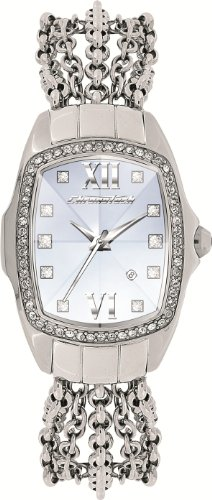 Chronotech Ladies Watch CT7930LS/03M 'Prisma Lady Night' with Silver Stainless Steel Strap