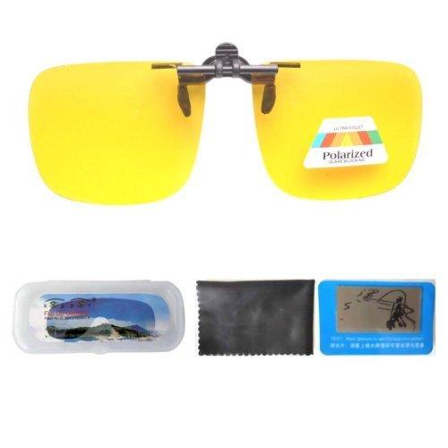 Eyekepper Große Sonnenbrillen-Clip für Brillenträger Gelb