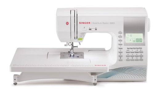 SINGER 9960 Quantum Stylist 600-Stitch Computerized Sewing Machine with Extension Table, Bonus Accessories and Hard Cover