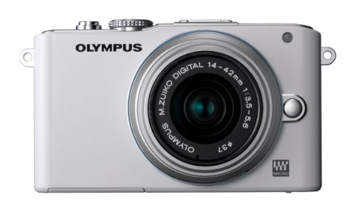 Olympus Pen E-PL3 Compact System Camera - White (M.ZUIKO Digital 14 -42mm II R Lens Kit)