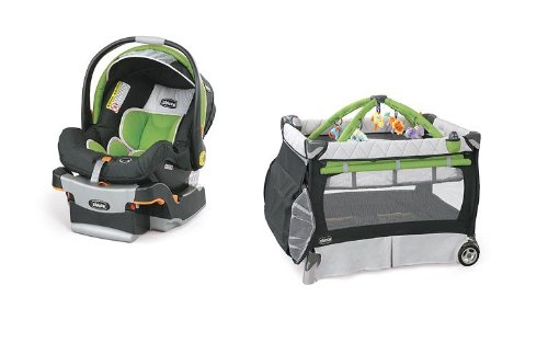 Chicco Key Fit Car Seat & Playard in Midori
