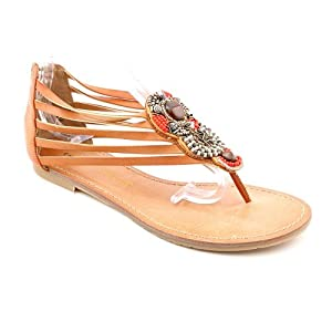 Chinese Laundry Great Fun Womens Size 8.5 Tan Open Toe Thongs Sandals Shoes