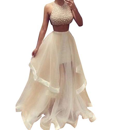 pcs Sleeveless Champagne Ruffles Floor Length Prom Evening Dress (US0-4