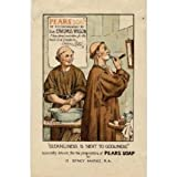 P1970 PEARS SOAP VINTAGE STYLE FUNNY POSTER PRINT