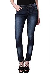 KOTTY Dark Blue Mid Rise Skinny Jeans