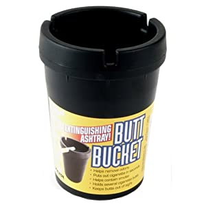 Victor Butt Bucket Extinguishing Ashtray (Black)