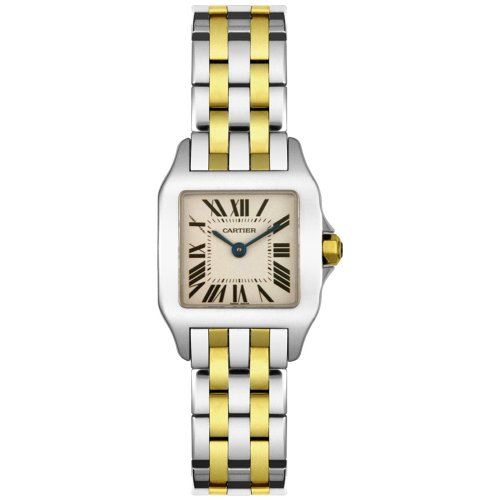 Cartier Women's W25066Z6 Santos Demoiselle Stainless Steel and 18K Gold Watch