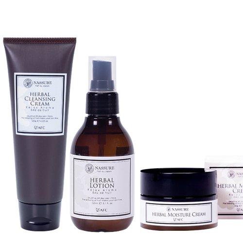 nassureナシュレー ハーバル3点セット オーガニックコスメ 自然派化粧品 天然アロマの香り