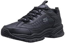 Skechers for Work Men\'s Soft Stride Galley Work Boot,Black,11 M US