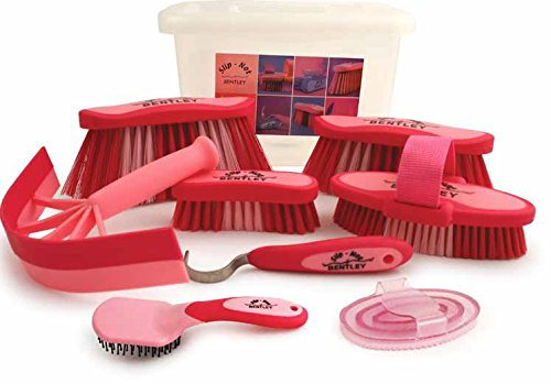 charles-bentley-slip-not-8-piece-equestrian-grooming-kits-with-carrying-box-pink