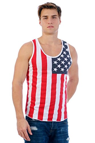 [Patriotic American Flag Men's TANK XXL] (Confederate Flag Halloween Costume)