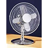 30.48CM DIA DESK FAN CHROME PLATED FOR HOME OFFICEby PRIME FURNISHING